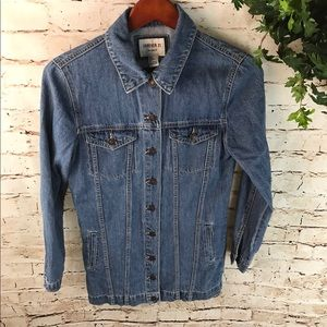 Forever 21 Long Lined Denim Jacket